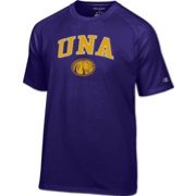 Champion Men's North Alabama  Lions Purple Logo T-Shirt