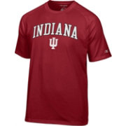 Champion Men's Indiana Hoosiers Crimson Word Logo T-Shirt