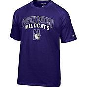 Champion Men's Northwestern Wildcats Purple Word Logo T-Shirt