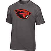 Champion Men's Oregon State Beavers Grey Big Logo T-Shirt