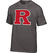 Champion Men's Rutgers Scarlet Knights Grey Big Logo T-Shirt