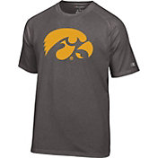 Champion Men's Iowa Hawkeyes Grey Big Logo T-Shirt