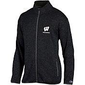 Champion Men's Wisconsin Badgers Grey Playbook Full-Zip Jacket
