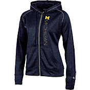 Champion Women's Michigan Wolverines Blue Student Section Full-Zip Hoodie