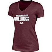 Champion Women's Mississippi State Bulldogs Maroon  Success V-Neck T-Shirt