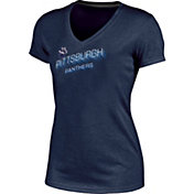 Champion Women's Pittsburgh Panthers Blue Success V-Neck T-Shirt