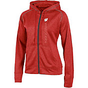 Champion Women's Wisconsin Badgers Red Student Section Full-Zip Hoodie