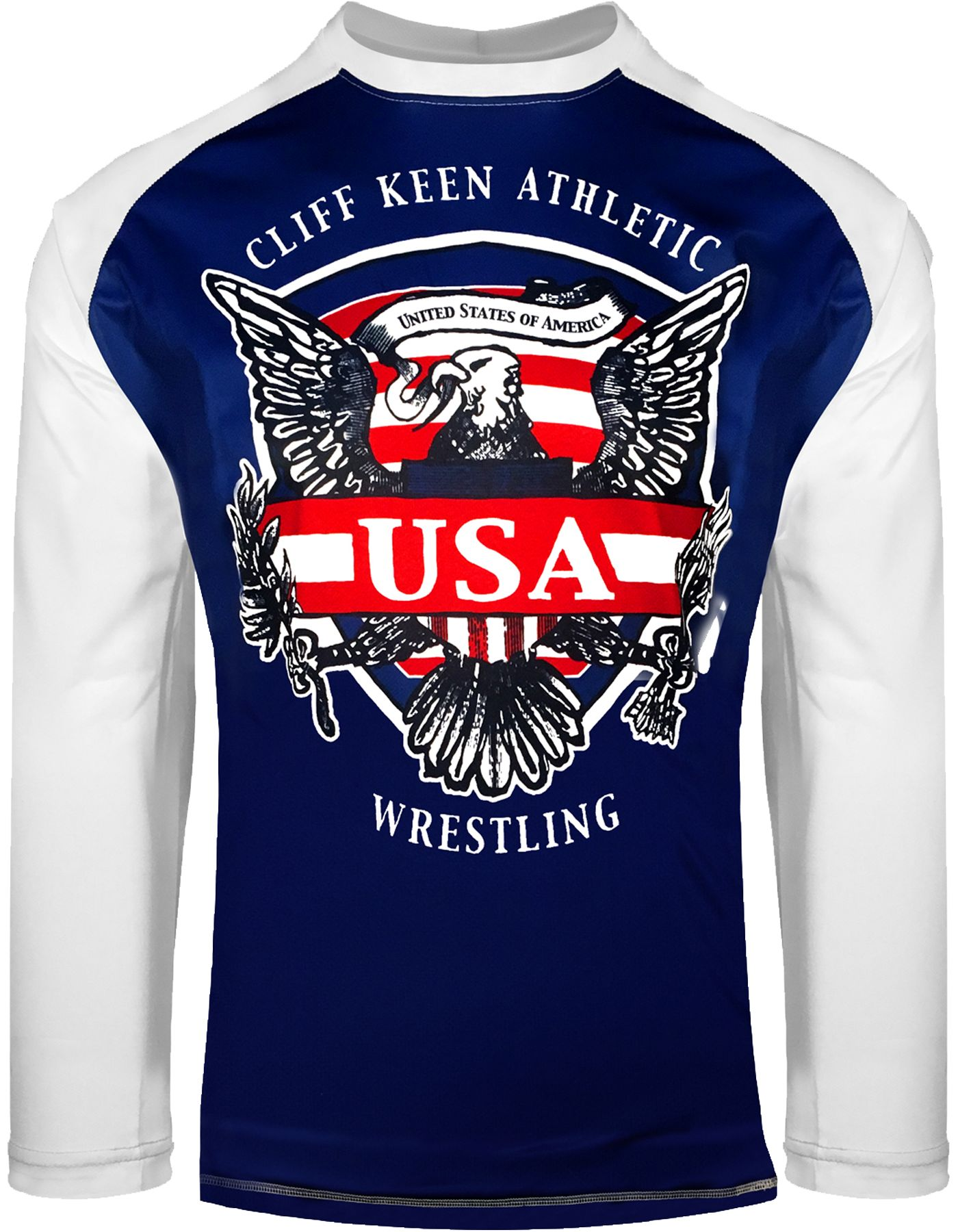 Cliff Keen Adult Historic Eagle Loose Long-Sleeve Sublimated Wrestling Top