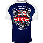 Cliff Keen Adult Historic Eagle Loose Short-Sleeve Sublimated Wrestling Top