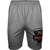 Cliff Keen Adult Historic Eagle Xtreme Fleece Wrestling Shorts in Grey