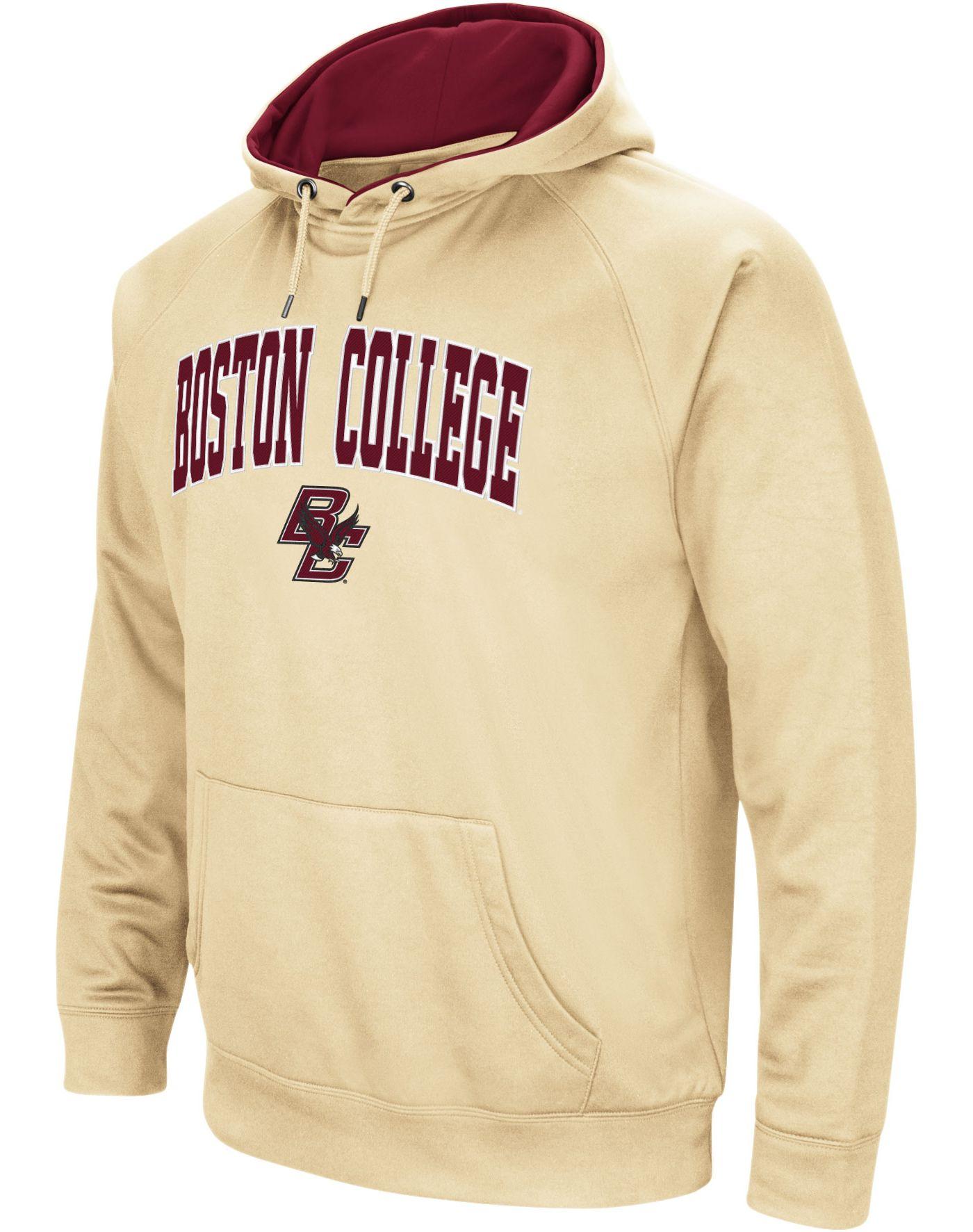 Colosseum Men's Boston College Eagles Gold Performance Hoodie