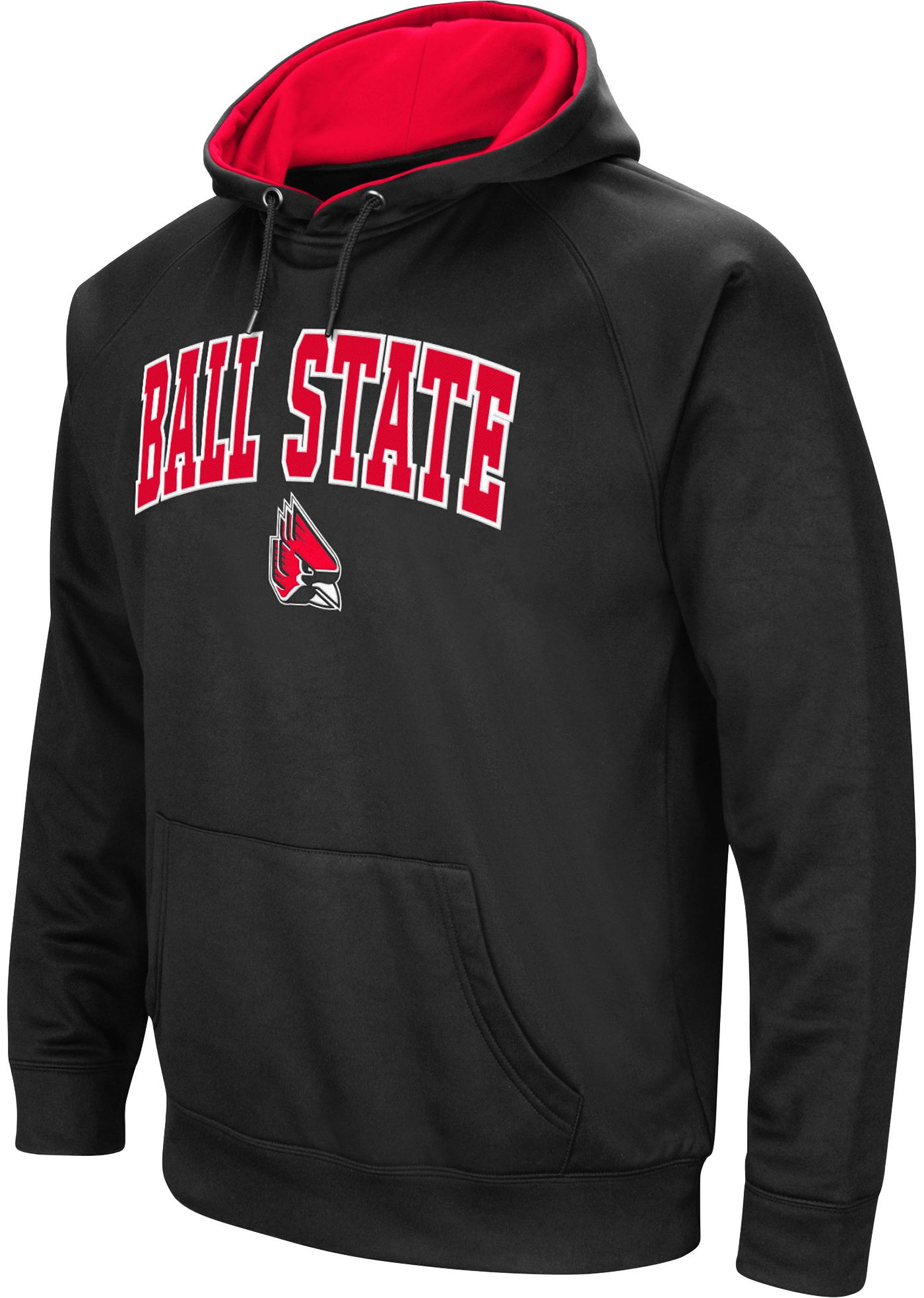 Colosseum Men's Ball State Cardinals Black Performance Hoodie