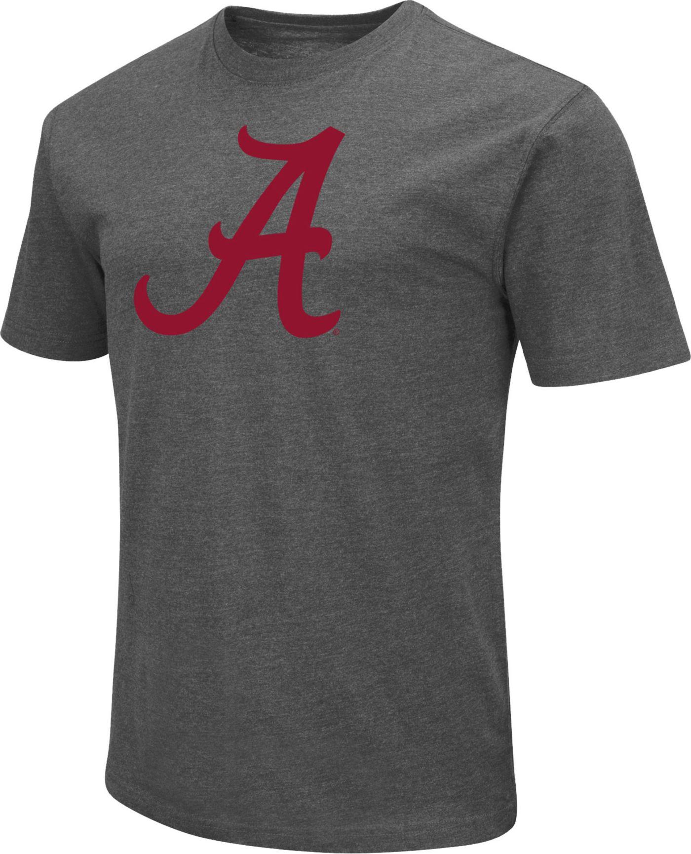 Colosseum Men's Alabama Crimson Tide Grey Dual Blend T-Shirt