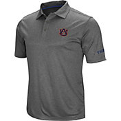 Colosseum Men's Auburn Tigers Grey Cut Shot Polo