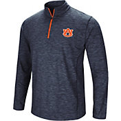 Colosseum Men's Auburn Tigers Blue Action Pass Quarter-Zip Shirt