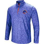 Colosseum Athletics Men's Boise State Broncos Blue Action Pass Quarter-Zip Shirt