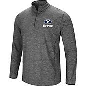 Colosseum Men's BYU Cougars Grey Action Pass Quarter-Zip Shirt
