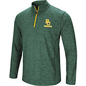 Colosseum Athletics Men's Baylor Bears Green Action Pass Quarter-Zip Shirt