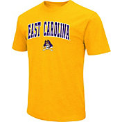 Colosseum Men's East Carolina Pirates Gold Dual Blend T-Shirt