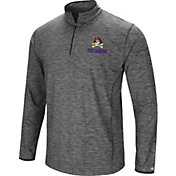 Colosseum Men's East Carolina Pirates Grey Action Pass Quarter-Zip Shirt