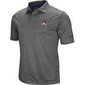 Colosseum Men's East Carolina Pirates Grey Cut Shot Polo