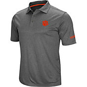 Colosseum Men's Clemson Tigers Grey Cut Shot Polo