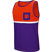 Colosseum Men's Clemson Tigers Regalia/Orange Lollygaggers Tank Top