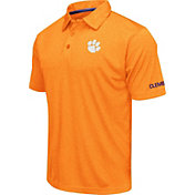 Colosseum Men's Clemson Tigers Orange Axis Polo