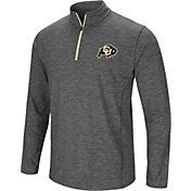 Colosseum Men's Colorado Buffaloes Grey Action Pass Quarter-Zip Shirt
