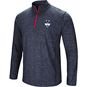 Colosseum Athletics Men's UConn Huskies Navy Action Pass Quarter-Zip Shirt
