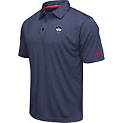 Colosseum Men's UConn Huskies Blue Axis Polo