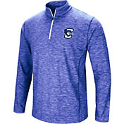 Colosseum Athletics Men's Creighton Bluejays Blue Action Pass Quarter-Zip Shirt