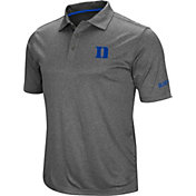 Colosseum Men's Duke Blue Devils Grey Cut Shot Polo