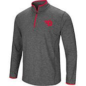 Colosseum Men's Dayton Flyers Grey Action Pass Quarter-Zip Shirt