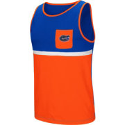 Colosseum Men's Florida Gators Blue/Orange Lollygaggers Tank Top