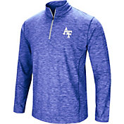 Colosseum Men's Air Force Falcons Blue Action Pass Quarter-Zip Shirt