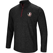 Colosseum Men's Florida State Seminoles Black Action Pass Quarter-Zip Shirt