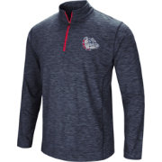Colosseum Athletics Men's Gonzaga Bulldogs Navy Action Pass Quarter-Zip Shirt