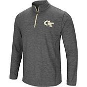 Colosseum Men's Georgia Tech Yellow Jackets Grey Action Pass Quarter-Zip Shirt