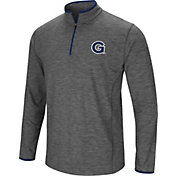 Colosseum Men's Georgetown Hoyas Grey Action Pass Quarter-Zip Shirt
