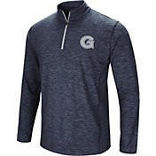 Colosseum Athletics Men's Georgetown Hoyas Navy Action Pass Quarter-Zip Shirt