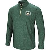 Colosseum Athletics Men's Ohio Bobcats Green Action Pass Quarter-Zip Shirt