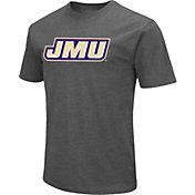 Colosseum Men's James Madison Dukes Grey Dual Blend T-Shirt