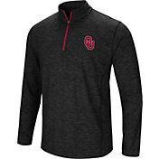 Colosseum Men's Oklahoma Sooners Black Action Pass Quarter-Zip Shirt