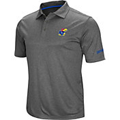 Colosseum Men's Kansas Jayhawks Grey Cut Shot Polo