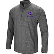 Colosseum Men's Kansas State Wildcats Grey Action Pass Quarter-Zip Shirt