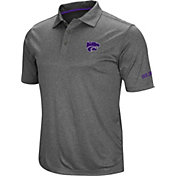 Colosseum Men's Kansas State Wildcats Grey Cut Shot Polo