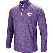 Colosseum Men's Kansas State Wildcats Purple Action Pass Quarter-Zip Shirt