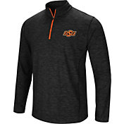 Colosseum Men's Oklahoma State Cowboys Black Action Pass Quarter-Zip Shirt