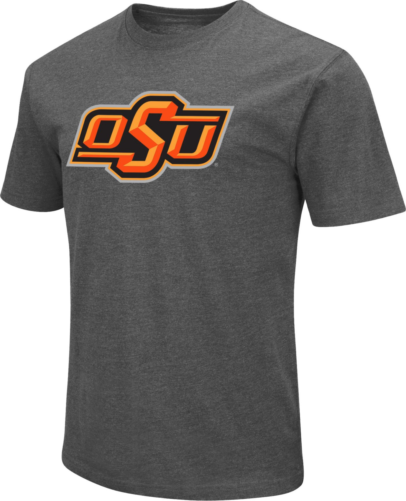 Colosseum Men's Oklahoma State Cowboys Grey Dual Blend T-Shirt